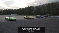 アヴェンタドールSV vs ウラカン ペルフォルマンテ vs 812 vs 720S ドラッグレース対決動画