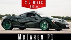 マクラーレン P1 の最高速度を実測してみた動画