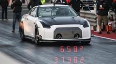 はえー!日産GT-R ゼロヨン6秒582 世界新記録動画