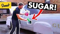 ガソリンタンクに砂糖を入れたらどうなるかやってみた