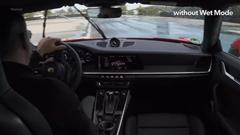 ポルシェ 992 のウエットモード デモンストレーション動画