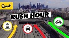 車 vs 自転車 vs 電車 ロサンゼルスのラッシュ時に最も速く着くのはどれだ対決