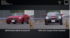 メルセデス SLK200 vs MINI JCW ロードスター いろいろ比較動画