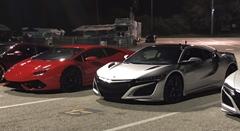 ホンダ NSX vs ランボルギーニ ウラカン 加速対決動画