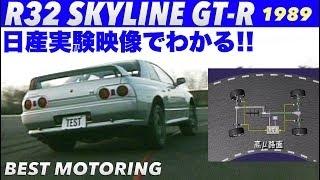 日産 R32 GT-R のアテーサE-TSの効果がよくわかる動画
