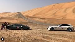 フェラーリ GTC4ルッソ が488ピスタを救出しちゃう動画
