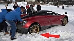 パガーニ ウアイラ は雪上ドライブに向いてないぞ