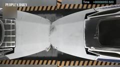 中国の高速鉄道 76km/hクラッシュテスト動画