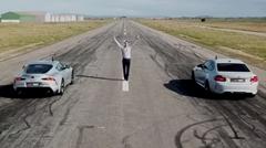 トヨタ GRスープラ vs BMW M2 コンペティション 0-800m 加速対決動画