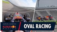 オーバルコースを走行するレッドブルF1のオンボード映像