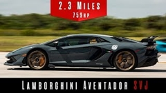 ランボルギーニ アヴェンタドール SVJ 最高速度実測動画