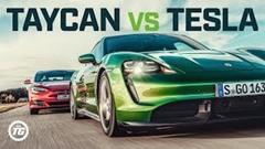ポルシェ タイカン ターボS vs テスラ モデルS 加速対決動画