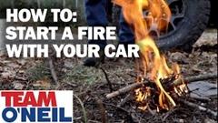 車で火をおこす方法がわかる動画