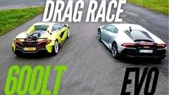 ランボルギーニ ウラカン EVO vs マクラーレン 600LT スパイダー 加速対決動画