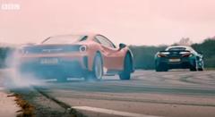 フェラーリ 488 ピスタ vs マクラーレン 600LT ドラッグレース動画