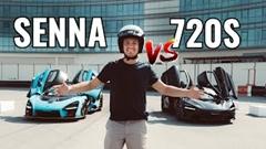 マクラーレン セナ VS 720S ドラッグレース対決動画