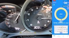 ポルシェ 718 スパイダー 306km/h スピードメーター動画
