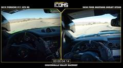 フォード マスタング シェルビー GT500 vs ポルシェ 991 GT3 RS サーキット比較動画