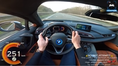 BMW i8 アウトバーン250km/h動画