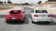 BMW M2 コンペティション vs トヨタ GR スープラ ラグナ・セカ比較動画