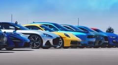 スープラ vs セナ vs GT350 vs カレラS vs XE SV vs AMG GT 63S vs M850i vs コンチネンタル vs M2 vs DBS vs ウルス vs チャレンジャー 12台同時ドラッグレース動画
