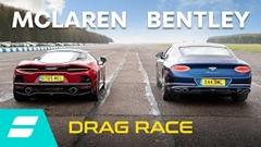 マクラーレン GT vs ベントレー コンチネンタル GT V8 ドラッグレース動画