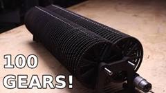 減速比10の100乗!世界最大のギア比を誇る無駄マシンを回転させるよ!