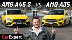 AMG A35 vs A45 S ドラッグレース対決動画