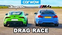 トヨタ スープラ vs BMW M4 ドラッグレース動画