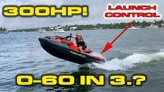 300馬力の水上バイク Sea-Doo RXT-X 300 の加速力を実測してみた