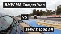 BMW M8 コンペティション vs S1000RR 四輪vs二輪ドラッグレース対決動画