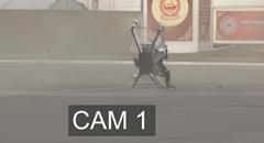 ホバーサーフのホバーバイクが墜落しちゃう動画