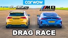 BMW M8 コンペティション(2WDモード) vs AMG A45S ドラッグレース動画