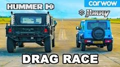 ハマー H1 vs スズキ ジムニー ドラッグレース動画