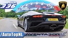 ランボルギーニ アヴェンタドール S ロードスター 0-336km/h メーター動画
