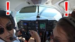 飛行中にドアが外れちゃった軽飛行機の緊急着陸動画