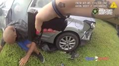 盗難車両を追いかけるパトカーのカーチェイス動画