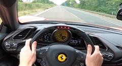 フェラーリ 488 GTB がアウトバーンで330km/h出しちゃう動画