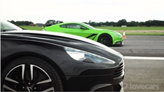 アストンマーティン ヴァンテージ GT12 vs ヴァンキッシュ・ヴォランテ ドラッグレース動画