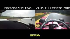 F1 vs ポルシェ 919 ハイブリッド Evo スパ・フランコルシャン比較動画