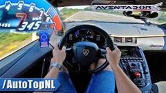 ランボルギーニ アヴェンタドールSが345km/h出しちゃうアウトバーン動画