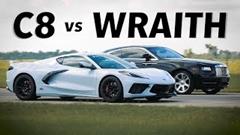 ロールスロイス レイス vs シボレー コルベット 加速対決動画