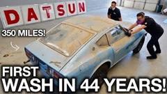 わずか350マイル(563km)しか走ってないほぼ新車のダットサン 280Zを44年ぶりに洗車するよ