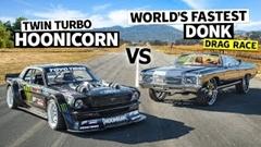 1500馬力 ドンク vs 1400馬力 マスタング ドラッグレース動画