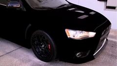 世界一黒い水性塗料 黒色無双でランエボを塗ってみた