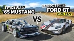 フォード GT vs 1400馬力 マスタング ドラッグレース動画
