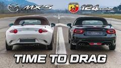 マツダ ロードスター vs アバルト 124 スパイダー ドラッグレース動画