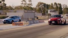 トヨタ GRヤリス vs ホンダ シビック TYPE R ドラッグレース動画