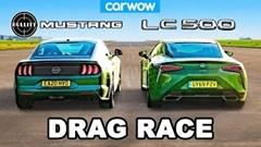 フォード マスタング vs レクサス LC500 ドラッグレース動画