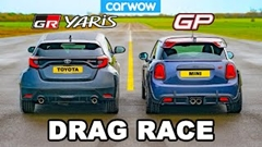 トヨタ GRヤリス vs ミニ JCW GP ドラッグレース動画